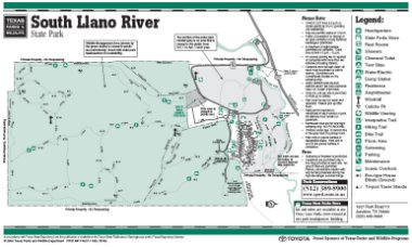 South Llano River State Park map